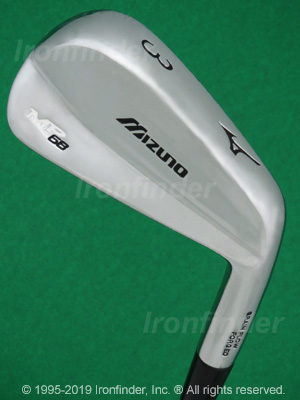 Back side of Mizuno MP-68 Irons head - the primary means to identify a club