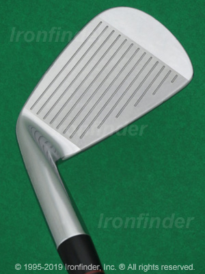 Face side of Nike VR Forged (Victory Red Split Cavity) Irons head