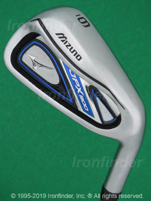 Back side of Mizuno JPX 800 Irons head - the 