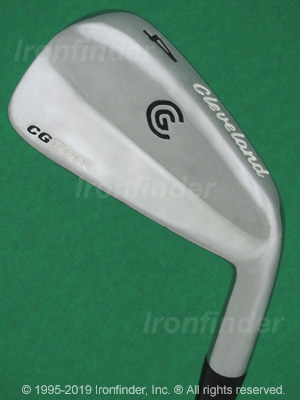 Back side of Cleveland CG Tour Irons head - the 