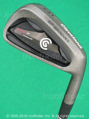 Back side of Cleveland CG7 Tour Black Pearl Zip Grooves Irons head - the primary means to identify a club
