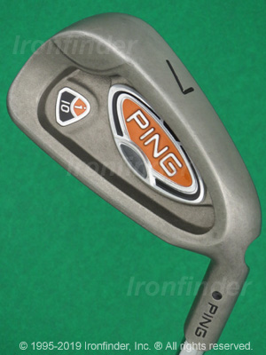 Back side of Ping i10 Irons head - the primary means to identify a club