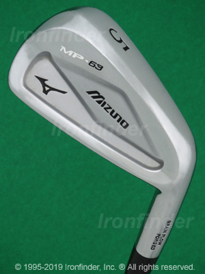 Back side of Mizuno MP-63 Irons head - the 
