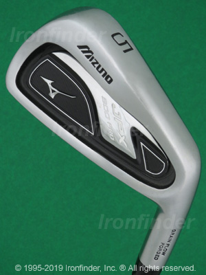 Back side of Mizuno JPX 800 PRO Irons head - the primary means to identify a club