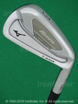 Back side of Mizuno MP-59 Irons head - the 