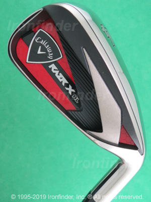 Back side of Callaway RAZR X HL Irons head - the 