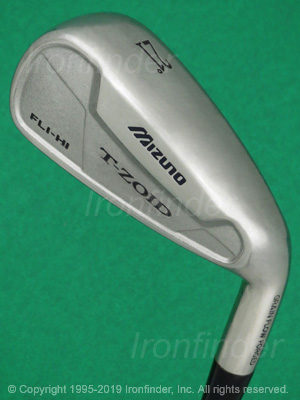 Back side of Mizuno T-ZOID FLI-HI Irons head - the 