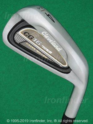 Back side of Cleveland CG16 Tour Satin Chrome Irons head - the 