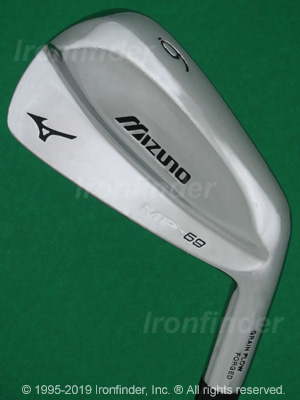 Back side of Mizuno MP-69 Irons head - the 