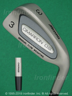 Back side of Mizuno CIMARRON OS Irons head - the 