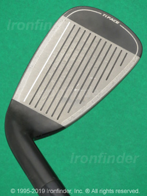 Face side of Cleveland CG Black Irons head