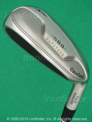 Back side of Cleveland 588 Altitude Irons head - the 