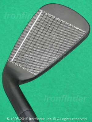 Face side of Cleveland CG16 Black Pearl Laser Milled Irons head