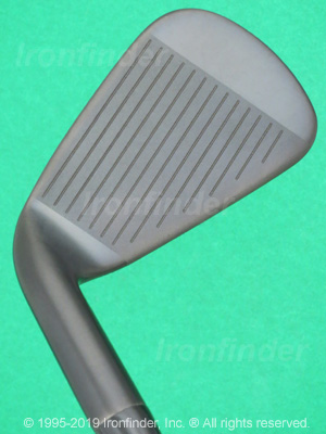 Face side of Callaway RAZR X Black Irons head