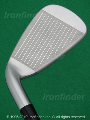 Face side of Cleveland CG16 Laser Milled (satin chrome) Irons head
