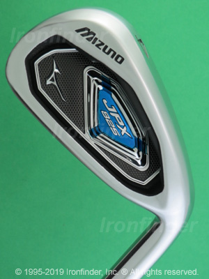 Back side of Mizuno JPX 825 Irons head - the 