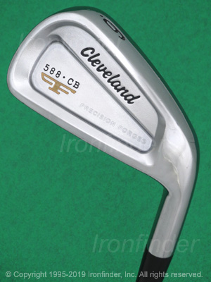 Back side of Cleveland 588.CB Precision Forged Irons head - the primary means to identify a club