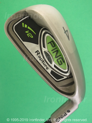 Back side of Ping Rapture V2 Irons head - the 
