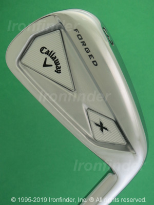 Back side of Callaway X-Forged (outside cavity) 13 Irons head - the 