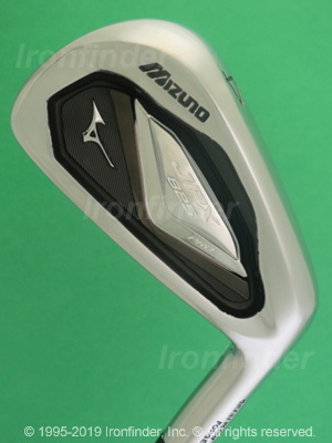 Back side of Mizuno JPX 825 PRO Irons head - the 