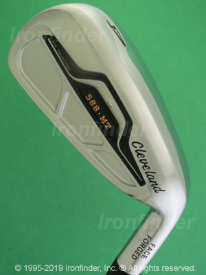 Back side of Cleveland 588 MT Mid Trajectory Irons head - the primary means to identify a club