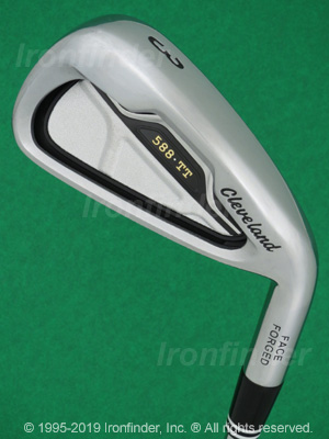 Back side of Cleveland 588 TT Tour Trajectory Irons head - the 