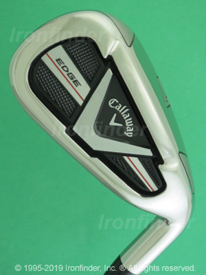 Back side of Callaway EDGE Irons head - the 