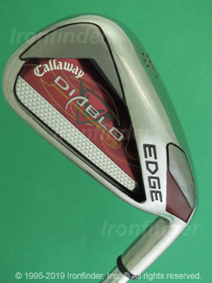 Back side of Callaway DIABLO EDGE R Irons head - the primary means to identify a club