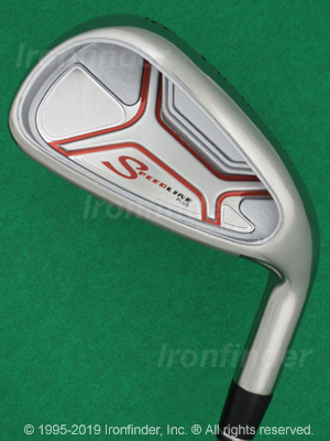 Back side of Adams Speedline Plus Irons head - the 