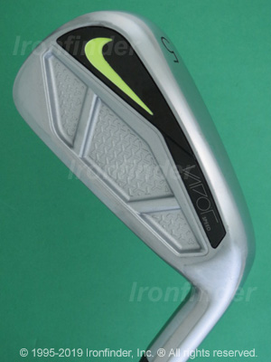 Back side of Nike VAPOR Speed Irons head - the primary means to identify a club