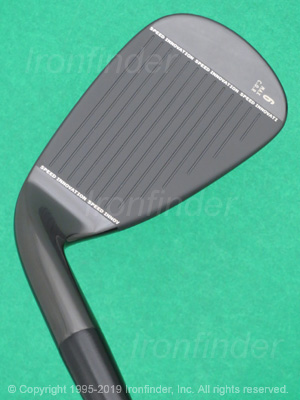 Face side of Cleveland CG Black 15-Cleveland on hosel Irons head