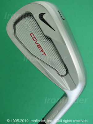 Back side of Nike VRS (Victory Red) COVERT Forged Irons head - the 