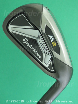 Back side of TaylorMade M2 TOUR Irons head - the primary means to identify a club
