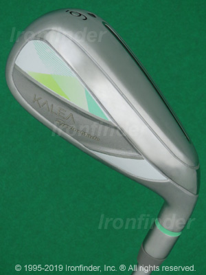 Back side of TaylorMade KALEA Irons head - the 