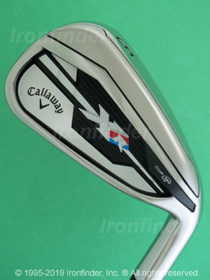 Back side of Callaway XR Cup 360 Irons head - the 