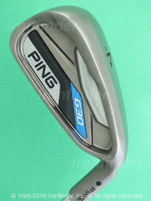 Back side of Ping G30 Irons head - the 