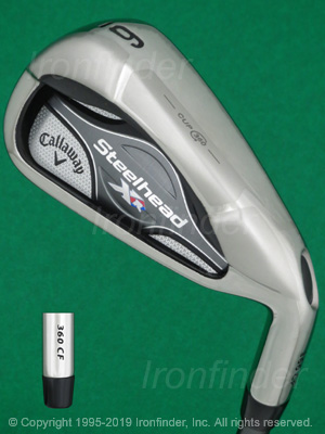 Back side of Callaway Steelhead XR Cup 360 Irons head - the 