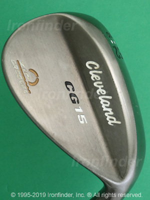 Back side of Cleveland CG Wedges Irons head - the primary means to identify a club
