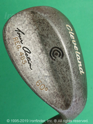 Back side of Cleveland Tour Action 485 Wedges Irons head - the 