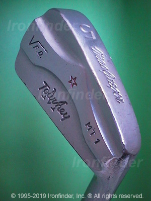 Back side of MacGregor MTourney MT1 (star) VFQ Irons head - the primary means to identify a club