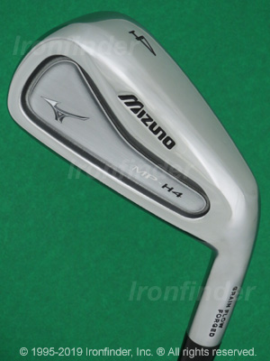 Back side of Mizuno MP-H4 Irons head - the primary means to identify a club