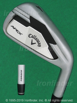 Back side of Callaway APEX Irons head - the 