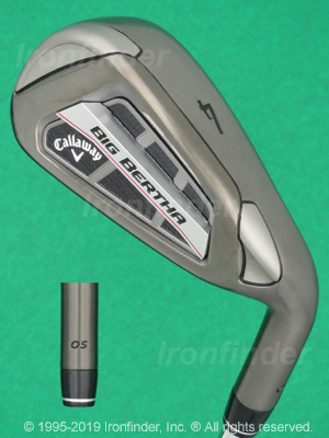 Back side of Callaway Big Bertha OS Irons head - the 