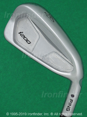 Back side of Ping i200 Irons head - the 