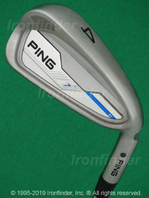 Back side of Ping i E1 Irons head - the 