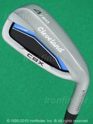 Back side of Cleveland Launcher CBX Irons head - the primary means to identify a club