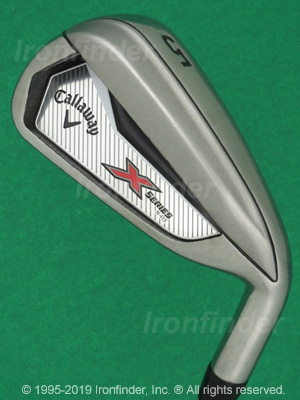 Back side of Callaway X Series N415 Irons head - the 
