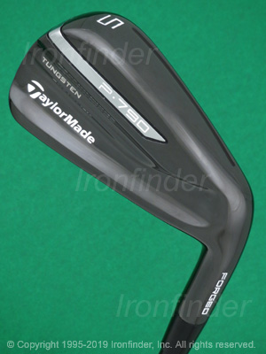Back side of TaylorMade P790 Black Forged Irons head - the 