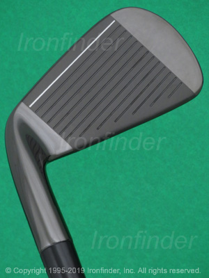 Face side of TaylorMade P790 Black Forged Irons head