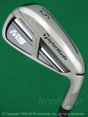 Back side of TaylorMade M5 Speed Bridge Irons head - the primary means to identify a club